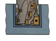 Gezeichnete Darstellung eines Walzenstirnfräsers