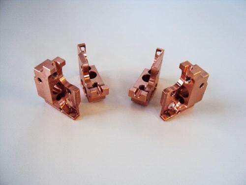 Kupferfrästeile von CM Feinmechanik