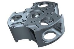 3D-Kunststoff-Frästeil mit 5-Achsen-Maschinen gefräst