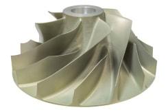 HSC-Fräsen von Hochleistungs-Impellern aus Aluminium für die Luftfahrt