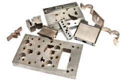 CNC-gefräste Stahlteile für den Maschinenbau mit geschlichteten Oberflächen