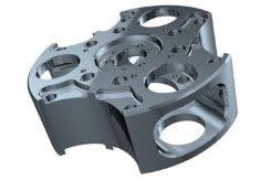 CNC-5-Achsen-Frästeile mit komplexen 3D-Formen