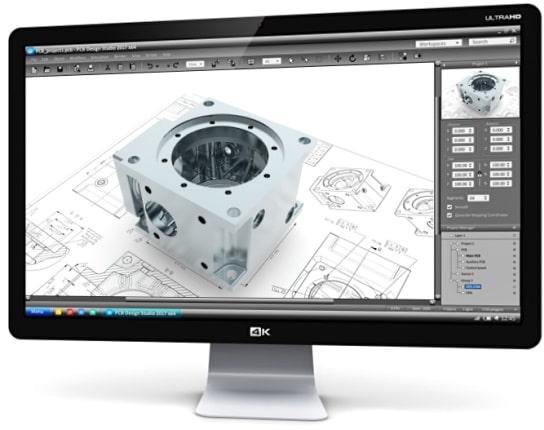 CAD-Konstruktion von Frästeilen am Laptop